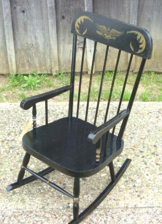 Item #19 Eastlake Chair (AS IS   Ready For Refinishing) Item #20 Tressel  Table Item #21 Oak Rocker With ...