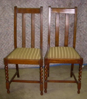 Item #3 Barley Twist Chairs (2) Item #4 Parlor Set (Ready For Your Fabric  For Reupholstering) Item #5 Maple Hutch Item #6 Maple Drop Leaf Table With  Extra ...